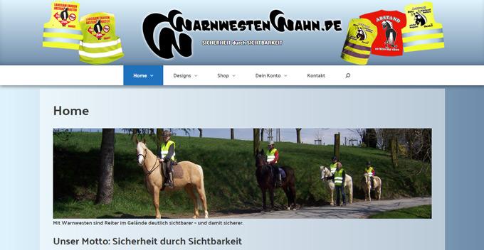 Die Startseite von WarnwestenWahn.de
